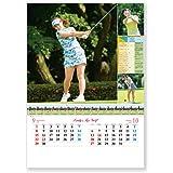 新日本カレンダー 2019年 レディス・トップゴルフ カレンダー 壁掛け NK127 (2019年 1月始まり)