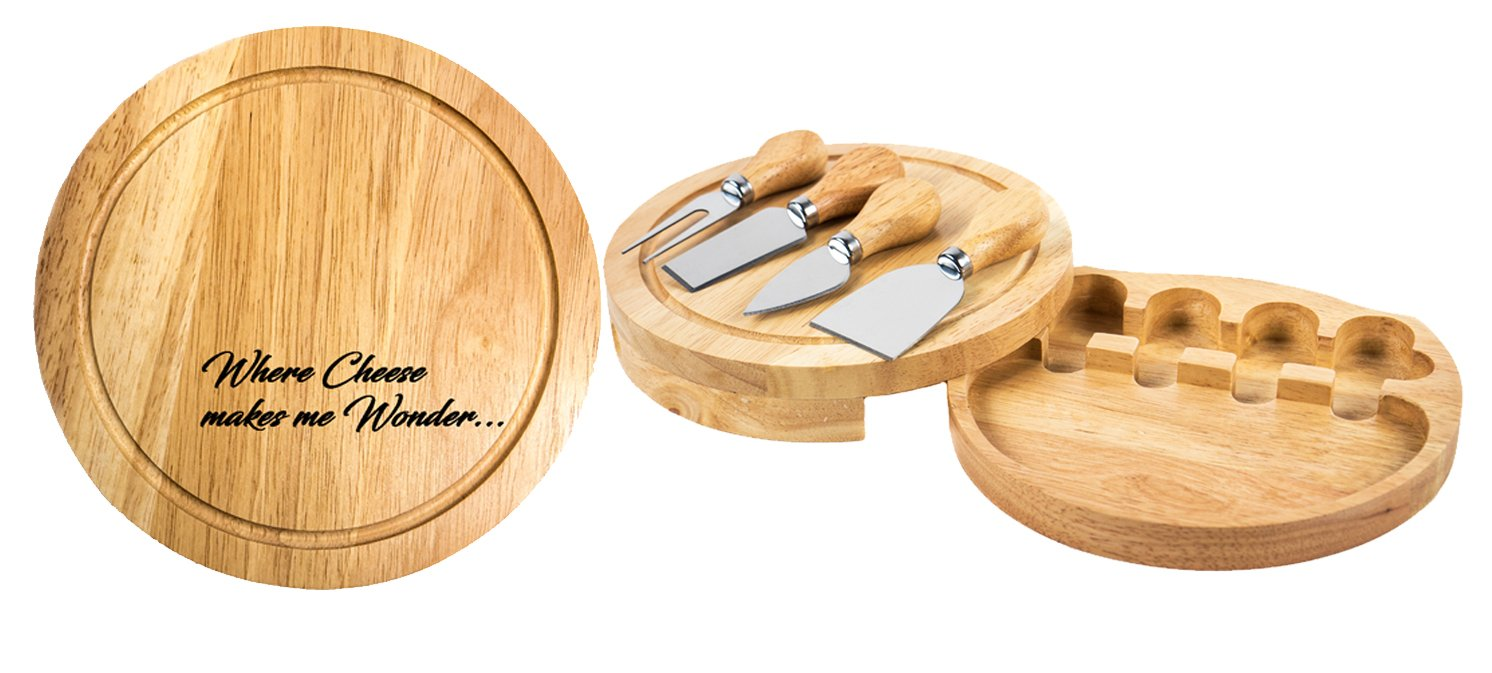Personalized | Custom Engraved Cheese Board & Knife Tool Set