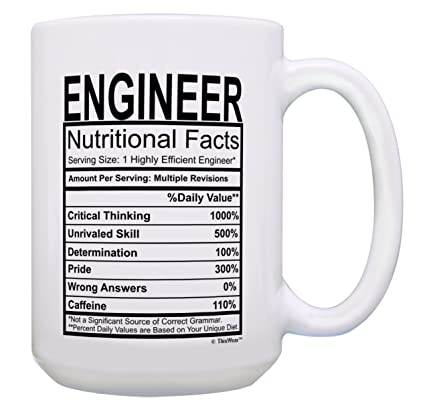 Amazon Funny Engineer Gifts For Men Engineer Nutritional Facts