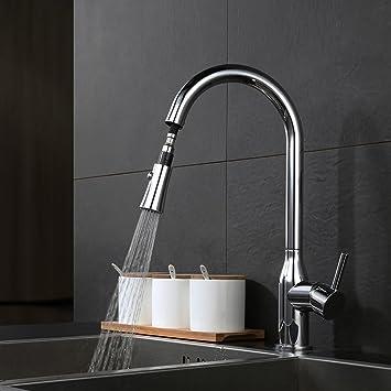Desfau Wasserhahn Küche ausziehbar Küchenarmatur mit Brause ...