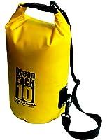 Karana Ocean Dry Pack Day Rucksack Waterproof Travel Kayak Bag 10 Litre 10L Yellow