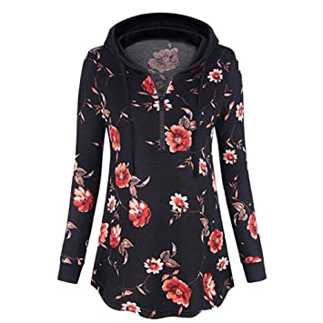 ZJSWCP Sweatshirt New Casual Women Hooded Printing with Formal Zipper Turkish Shirt and Top Blouse Women