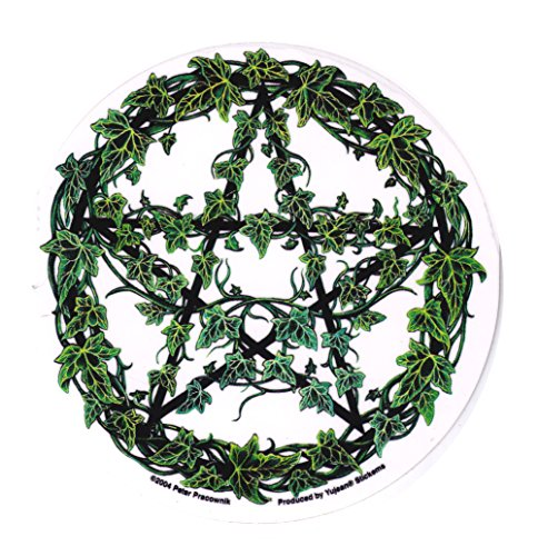 Yujean Products Cool Hippie Pentagram Decal for Cars Trucks Guys Girls Men Women Pagan Stickers Laptops