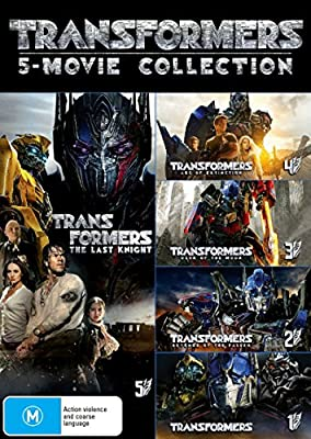 Transformers 5 Movie Collection | Mark Wahlberg | 5 Discs | Directed by Michael Bay | NON-USA Format | PAL | Region 4 Import - Australia