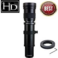 JINTU 420-800mm f/8.3-16 Manual Telephoto Lens Prime Lens for Canon EOS 60D 80D 70D 50D 5D MAKR III 7D II 5D II 450D 550D 650D 750D 1200D SLR Digital Camera + Leather Bag Case