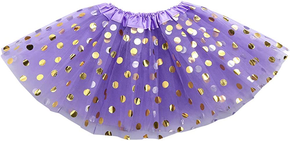Lazzboy Girls//Baby Tutu Tulle Dot Sparkling Sequins Ballet Skirt Princess Dress-up Dance Wear for 0-8 Years Costume Party
