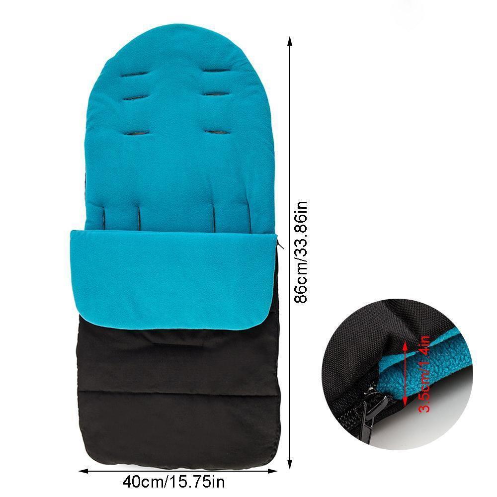 azul Fossrn Invierno Universal Saco de abrigo Carritos sillas de paseo bebe