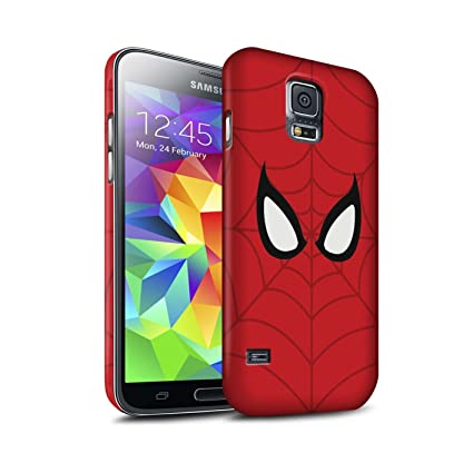 separation shoes 85768 18818 STUFF4 Matte Hard Back Snap-On Phone Case for Samsung Galaxy S5 Neo/G903 /  Spider-Man Mask Inspired Design/Super Hero Comic Art Collection