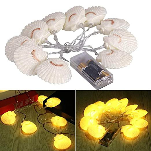 Impermeable Sea Shell LED Luces de hadas para Navidad Boda ...