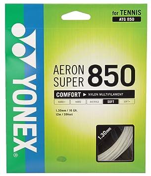 a2bca06e33f246 ヨネックス(YONEX) 硬式テニス ストリングス エアロンスーパー 850 (1.30mm) ATG850 ホワイト