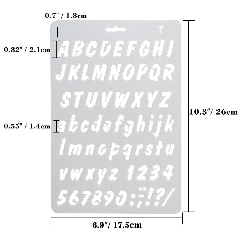 Scrapbooking CCMART Plastic Bullet Journal Stencil Template Set of 8