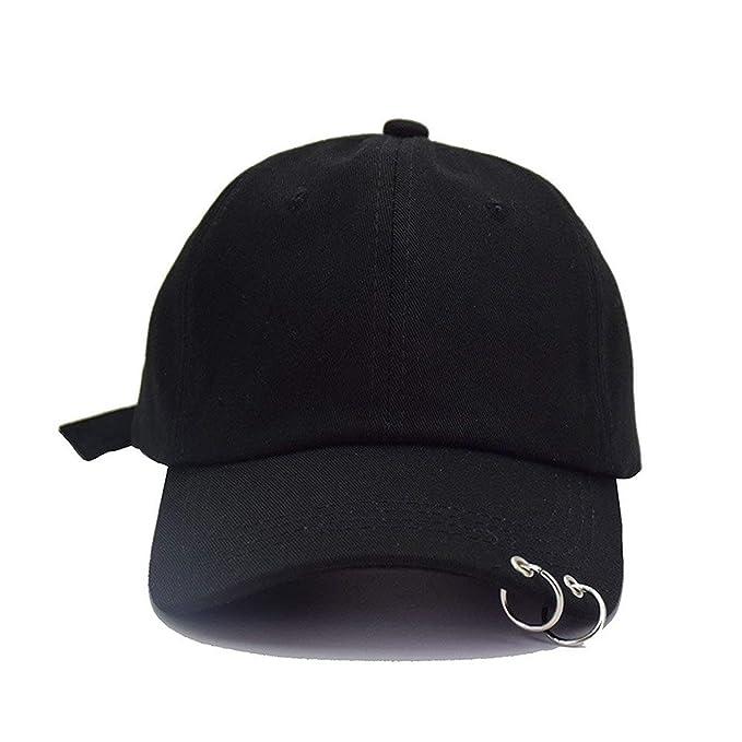 BOLAWOO Gorros Unisex Para Hombre Anillo De Gorra De Béisbol Hombre Versión Papá Mode De Marca Sombrero Polo Gorra Gorras (Color : Black 1, ...