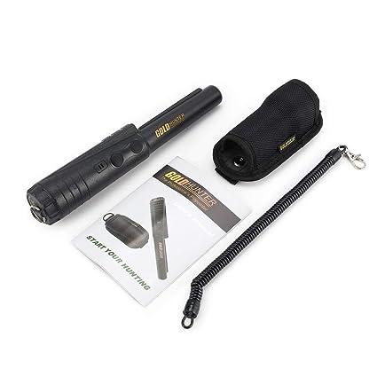 FCGVD Escáner subterráneo del buscador de Detector de Metales Pinpointer Gold Hunter Professional - Negro