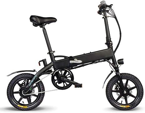 SHIJING 14 Pulgadas Bicicleta Plegable de Potencia Motor de Asistencia eléctrica de la Bicicleta ciclomotor 250W 36V 7.8AH / 10.4AH Bicicleta eléctrica Adaptador de Carga de la UE: Amazon.es: Deportes y aire