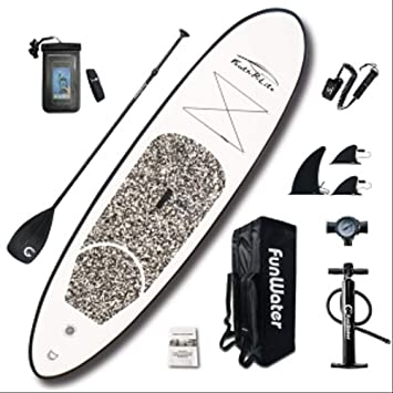 Amazon.com: Bds - Tabla de surf hinchable con soporte, con ...