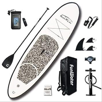 Amazon.com: Bds - Tabla de surf hinchable con soporte, con ...