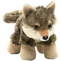 "Wild Republic Wolf Plush, Stuffed Animal, Plush Toy, Gifts for Kids, Hug'ems, 7"" (16244)"