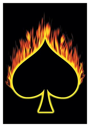 ace of spades on fire
