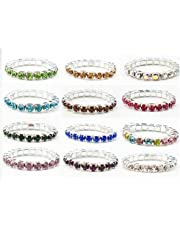 Charmed By Dragons Crystal Stretch Toe Rings Lot of 12