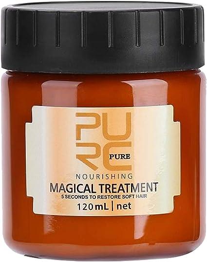 Mascarilla para el cabello con tratamiento mágico, Tratamiento avanzado para las raíces del cabello molecular, Mascarilla profesional para reparación ...
