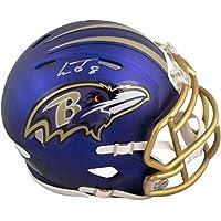 $359 » Lamar Jackson Autographed Baltimore Ravens Blaze Mini Football Helmet - JSA COA