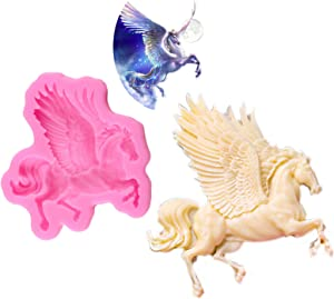 MYL Pegasus Fondant Molds,Unicorn Horse Silicone Mold with Flying Horse Cake Decoration,elderberry gummies for kids Sugarcraft Chocolate Polymer Clay Cupcake Decor SugarCraft Candy Pudding (MJ01906)