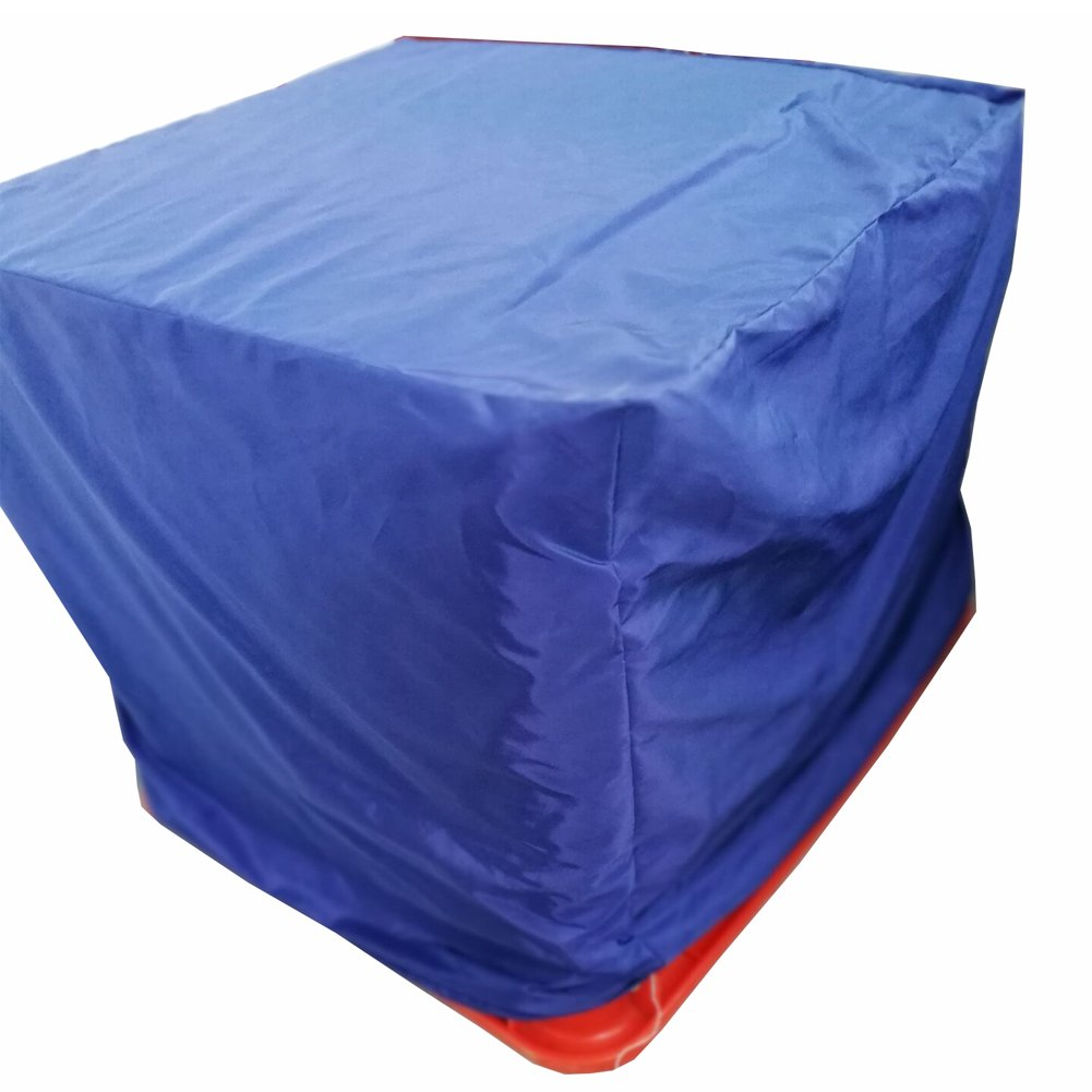 QEES Square BBQ Gas Grill Cover with Closed Strap Heavy Duty Polyester Outdoor Garden Cover Cube Furniture Cover Thick and Durable Fit Most Grill Components JJZ08