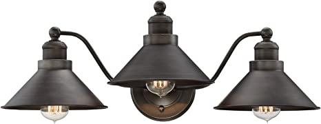 Kira Home Welton 25 5 Modern Industrial 3 Light Vanity Bathroom Light Brushed Dark Industrial Bronze Finish Amazon Com