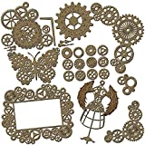 Steampunk Scrapbook Embellishments Collection #2 - 25 Piece Laser Cut Chipboard Set