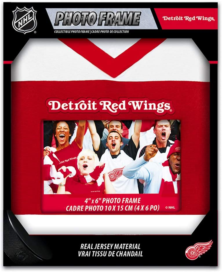 MasterPieces NHL Detroit Red Wings 4X6 Uniform Photo Picture Frame Made with Real Jersey Material