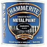 Hammerite Metal Paint Smooth 250ml Black by Hammerite