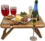 Kango Mango Portable Folding Wine and Champagne Picnic Table - for