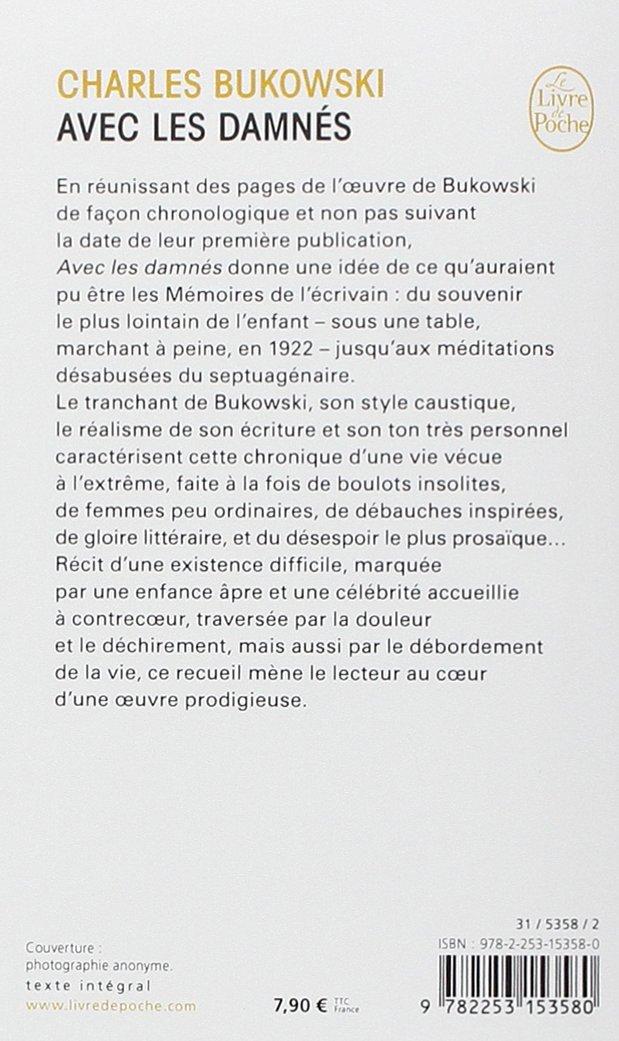 Amazonfr Avec Les Damnés Charles Bukowski Livres