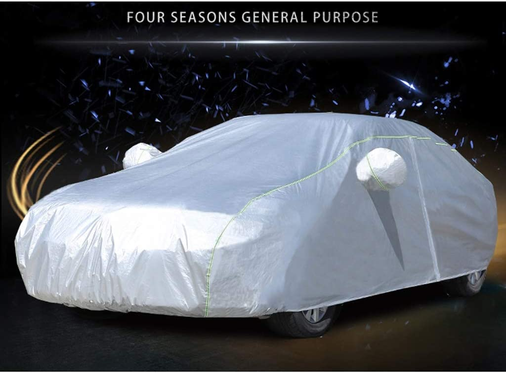 Car Cover Compatible with Rolls-Royce Cullinan Wraith Sweptail Ghost Dawn Phantom Weather Resistant Waterproof Fastening Straps Open Side Car Cover Color : Silver, Size : Cullinan