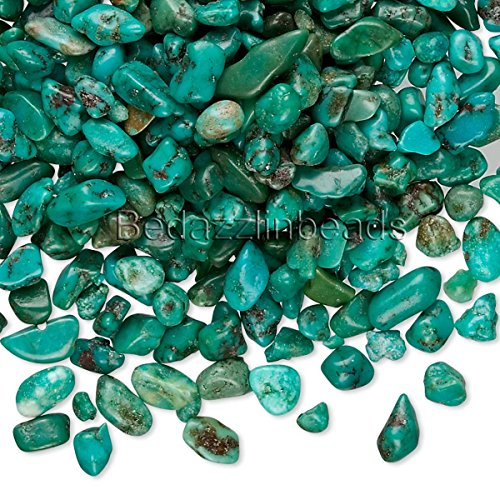 50 Grams Small Undrilled Gemstone Embellishment Chip Pieces (Turquoise)
