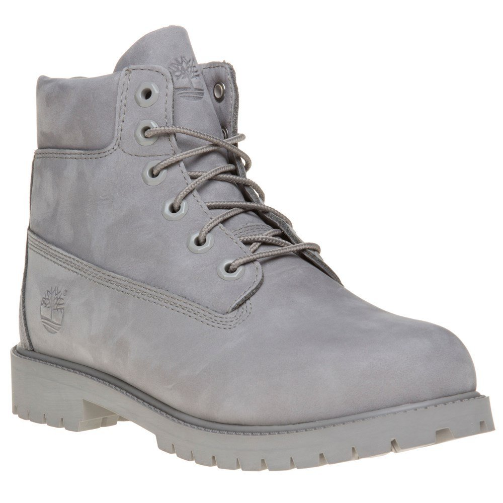 Timberland Youth 6-Inch Premium Waterproof Boots Grey Size 7 M US by Timberland