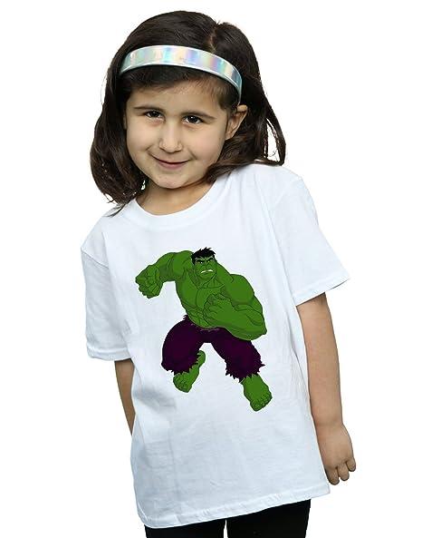Marvel Niñas Hulk Pose Camiseta: Amazon.es: Ropa y accesorios