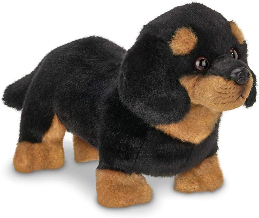 Bearington Harley Black and Tan Dachshund Plush Stuffed Animal Puppy Dog, 13 inches