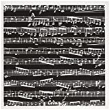Best Music For Pianos - 3dRose Black and White Musical Notes Stylish Sheet Review