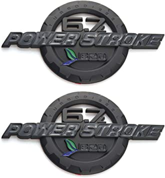 Black 2pcs 6.7L Power Stroke Emblems EmbRoom 3D Turbo Diesel 2011-2016 Powerstroke Door Badge NamePlate Decals Stickers Replacement for Ford F250 F350