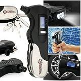 Oct17 Digital Tire Air Pressure Gauge, Car Bicycle Monitor LCD, 9-In-1 Emergency Survival Repair Multi-Function Tool Kit, Safety Hammer, Flashlight, Seatbelt Cutter