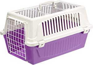 Atlas Two-Door Pet Carrier | Easy Assembly Pet Carrier with Front & Top Door Featuring Secure Side-Clip Construction (No Tedious Nut & Bolt Assembly)
