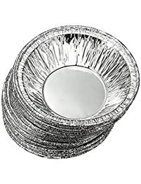 CheckOut Perfect shopping 50 Pcs Kitchen Disposable Baking Circular Egg Tart Tins Cake Cups Foil Tart Pie Pans with Stylus... lowestprice