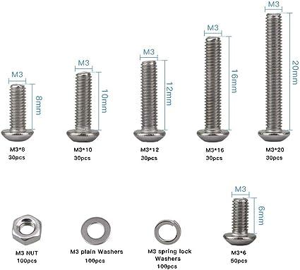 Métrico Acero Arandelas planas y arandelas de reparación surtidos Caja de 425 piezas de cinc plateado