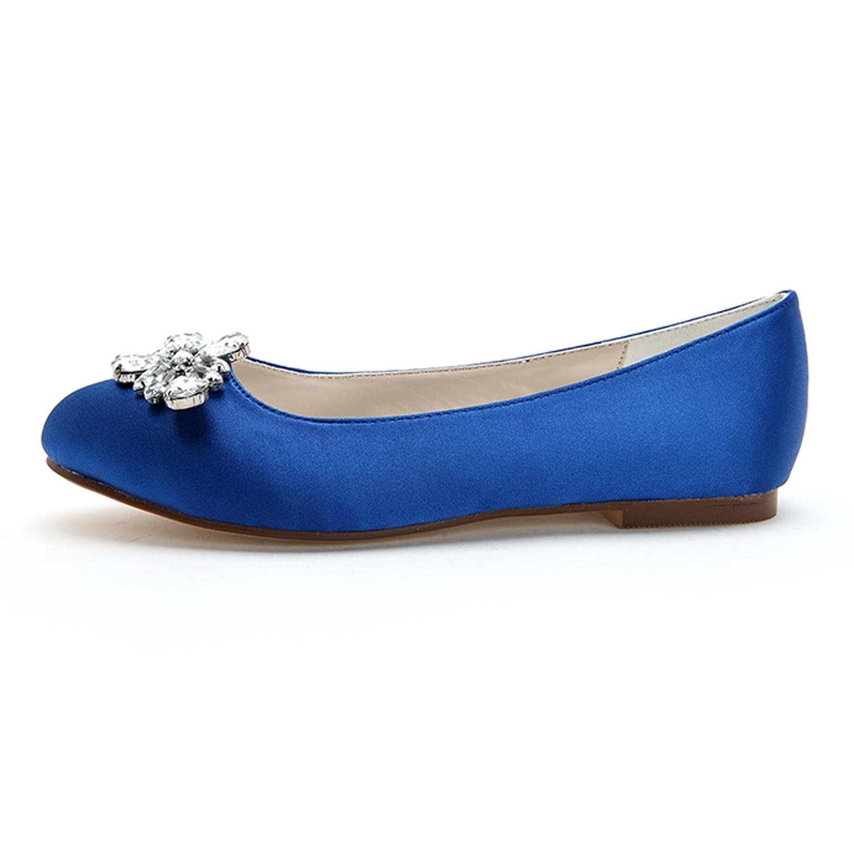 Para Mujer De Punta yc Pisos 9872 L Redonda Boda 12 Zapatos lK3JcFu1T