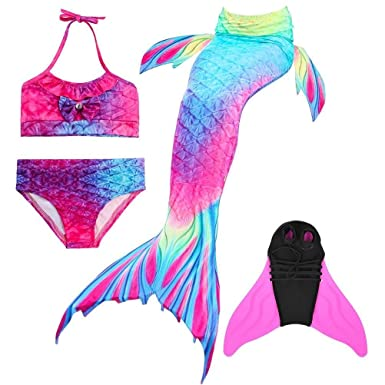 superstar 4pcs girls mermaid tail swimsuit