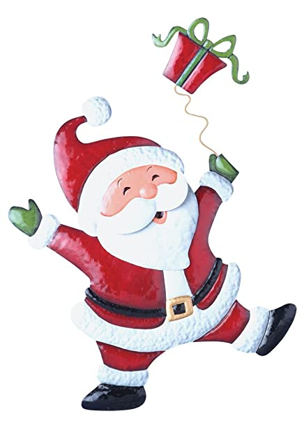 collections etc christmas cheerful character garden decor yard stake santa - Christmas Lawn Decorations Amazon