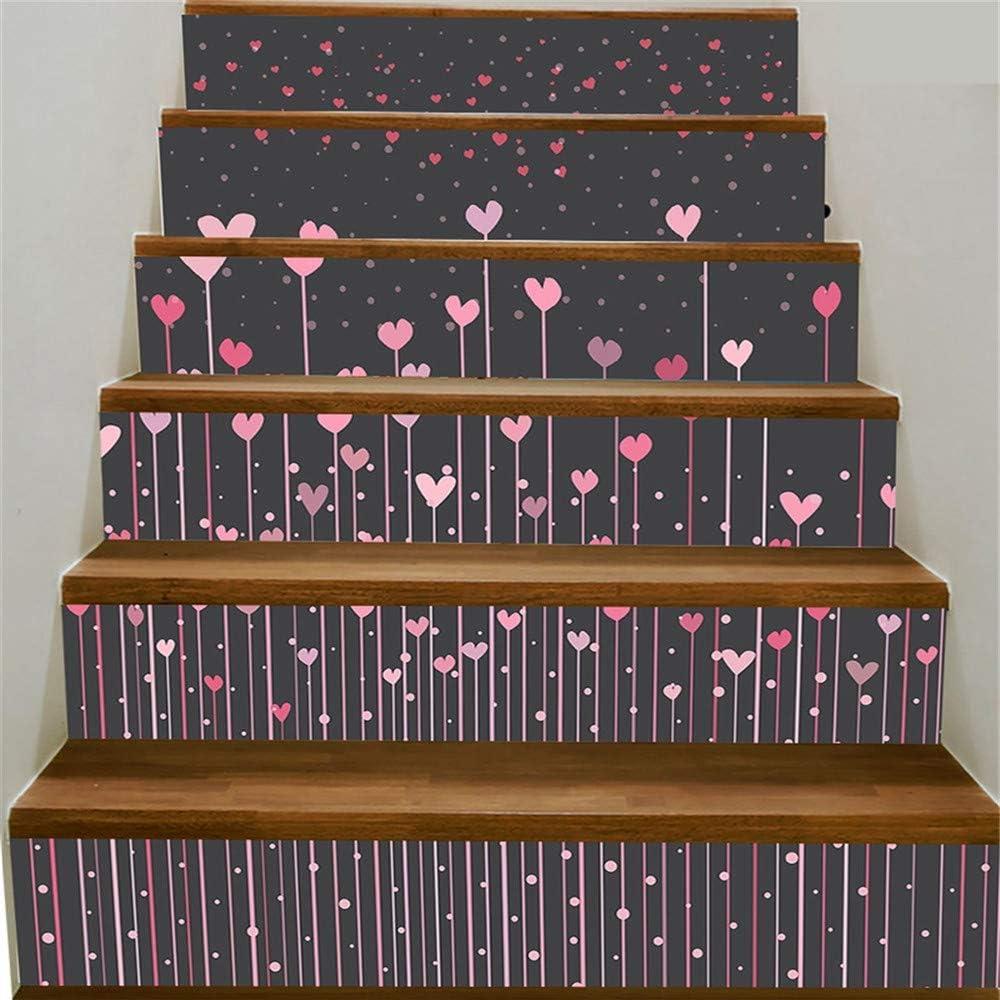 Vinilos decorativos Escaleras 3D Stickersvalentines Day Element Pegatinas de escalera de explosión Pegatinas de escalera autoadhesivas Escalera de escalera de impresión digital Pegatinas decorativas: Amazon.es: Bricolaje y herramientas