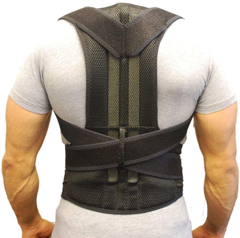 Soporte Para Espalda Cinturón Ortopédico Postura Corsé Soporte Para La Espalda Plancha Para El Hombro Postura Del Hombro Redondo Tirantes Para Hombres Y Mujeres,M