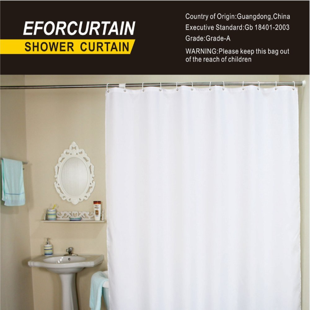 Eforcurtain Bath Stall Size 36 By 72 Inch Heavy Duty Fabric Shower Curtain And Ebay